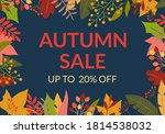 autumn sale banner or poster.... | Shutterstock .eps vector #1814538032