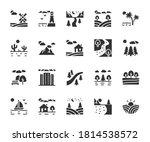 vector set of landscape flat... | Shutterstock .eps vector #1814538572