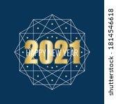 happy new year 2021. golden... | Shutterstock .eps vector #1814546618