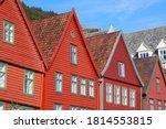 Bergen City  Norway. Bryggen...