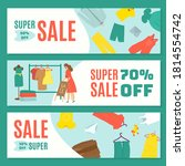 final sale banners set design...   Shutterstock .eps vector #1814554742