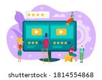 film review concept vector...   Shutterstock .eps vector #1814554868