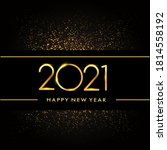 happy new year 2021 with... | Shutterstock .eps vector #1814558192