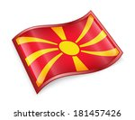 macedonia flag icon  isolated... | Shutterstock . vector #181457426