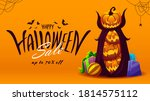 halloween sale banner with... | Shutterstock .eps vector #1814575112
