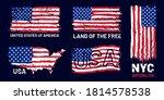 american flag grunge. patriotic ... | Shutterstock .eps vector #1814578538