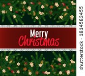 merry christmas and happy new... | Shutterstock .eps vector #1814583455