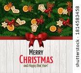 christmas card background.... | Shutterstock .eps vector #1814583458