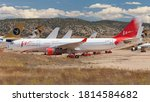 Small photo of Teruel, Spain - August 17, 2020: VIM Airlines Airbus A330-200 stored at Teruel Airport, Spain.
