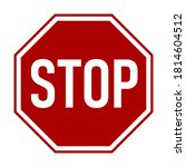 stop sign with an octagonal... | Shutterstock .eps vector #1814604512