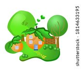 set of drawings of small fairy... | Shutterstock . vector #1814633195