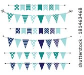Blue Blank Banner  Bunting Or...