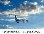 Big Airplane Fly To Blue Sky...