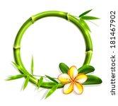 bamboo frame with flower.... | Shutterstock .eps vector #181467902