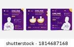 set of social media post...   Shutterstock .eps vector #1814687168