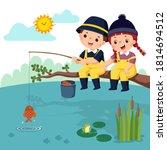 vector illustration of little...   Shutterstock .eps vector #1814694512