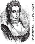 elizabeth i of england  vintage ...   Shutterstock .eps vector #1814709695