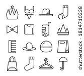 clothes line icon vector... | Shutterstock .eps vector #1814710238