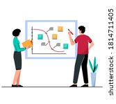 the work team is looking at...   Shutterstock .eps vector #1814711405