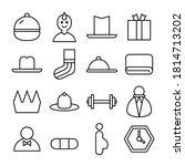 simple line icon vector... | Shutterstock .eps vector #1814713202