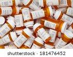 dozens of prescription medicine ... | Shutterstock . vector #181476452