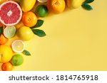 Slices  whole citruses are laid ...