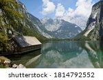 Lake Obersee With Wooden...
