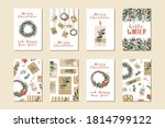 set of different christmas... | Shutterstock .eps vector #1814799122