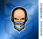 old beard man esport logo with...   Shutterstock .eps vector #1814808122