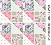 patchwork seamless floral... | Shutterstock . vector #181481906