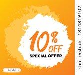 10  off  10 percent offer  10... | Shutterstock .eps vector #1814819102