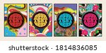 psychedelic covers  backgrounds ... | Shutterstock .eps vector #1814836085