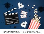 Movie clapperboard and...