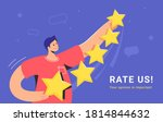 customer review and user rating ...   Shutterstock .eps vector #1814844632