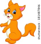 cute cat cartoon  | Shutterstock . vector #181487846