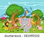 funny animal cartoon  | Shutterstock . vector #181490102