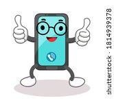 cartoon funny phone character...