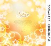 sunny bokeh background template ...   Shutterstock .eps vector #181494002