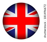 united kingdom flag button on a ... | Shutterstock .eps vector #181496672
