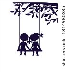 Illustration  Silhouettes Of A...