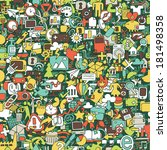 web seamless pattern  repeated  ... | Shutterstock .eps vector #181498358