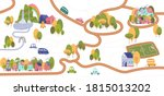 vector trail map with pathways... | Shutterstock .eps vector #1815013202