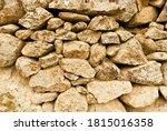 Closeup Shot Of The Stone Wall...
