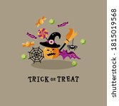 trick or treat. happy halloween ... | Shutterstock .eps vector #1815019568