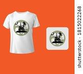 funny halloween shirts vector... | Shutterstock .eps vector #1815022268