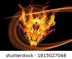 3d Rendering Fire Dragon...