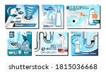 clogged drain cleaner promo...   Shutterstock .eps vector #1815036668