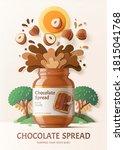 3d Illustration Chocolate...