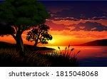 beautiful sunset scene in the... | Shutterstock .eps vector #1815048068