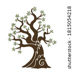 olive tree with branches and... | Shutterstock .eps vector #1815054218